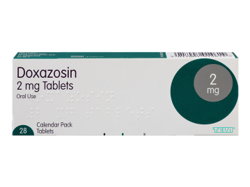 Pack of 28 2mg doxazosin oral tablets