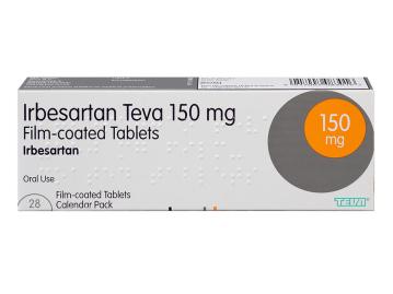 28 pack of 150mg irbesartan teva oral film-coated tablets