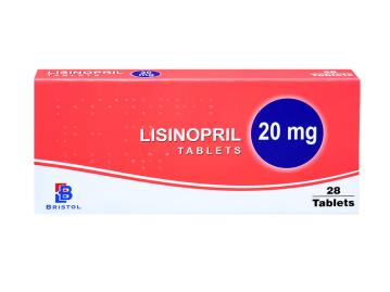 28 pack of 20mg lisinopril tablets