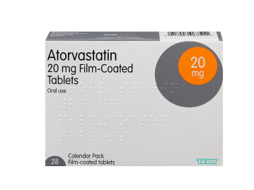 28 pack of atorvastatin 20mg film-coated oral tablets