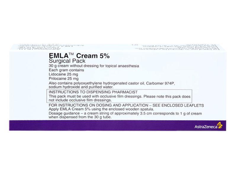 Pack of 1 30g tube of 25mg lidocaine 25mg prilocaine per gram EMLA 5% cream topical anaesthesia