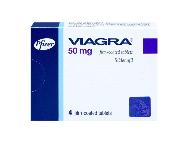 Two blue Viagra tablets with Pfizer imprinted on the front of each tablet