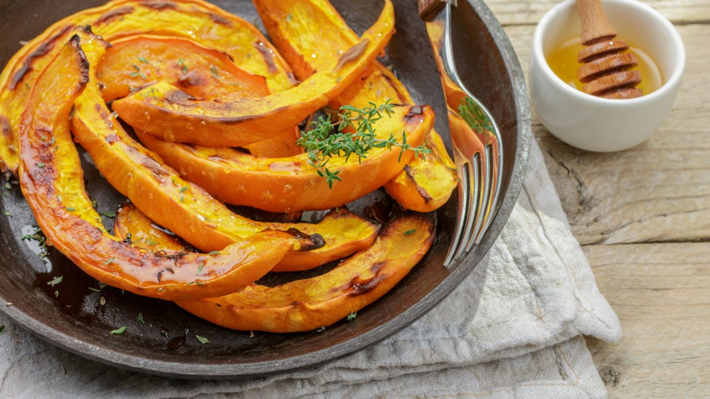 pumpkin slices on a plate