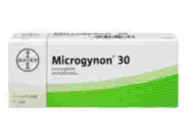 Pack of 63 Microgynon 30 levonorgestrel ethinylestradiol oral tablets
