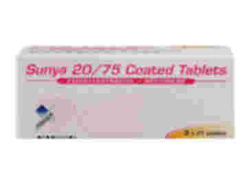 63 pack of Sunya 20/75 ethinylestradiol/gestodene coated tablets