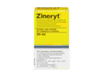 Pack containing 30ml of Zineryt powder and solvent for cutaneous solution