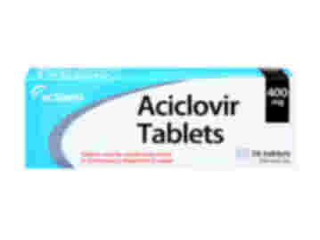 Pack of 56 Aciclovir 400mg dispersable oral tablets