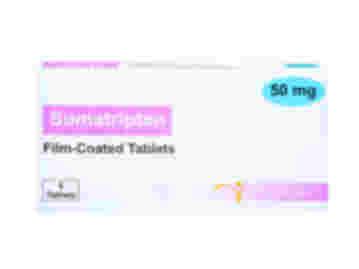 Pack of 6 film-coated 50mg sumatriptan tablets