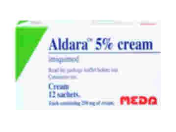Pack of 12 sachets of Aladara 5% 250mg imiquimod cutaneous cream
