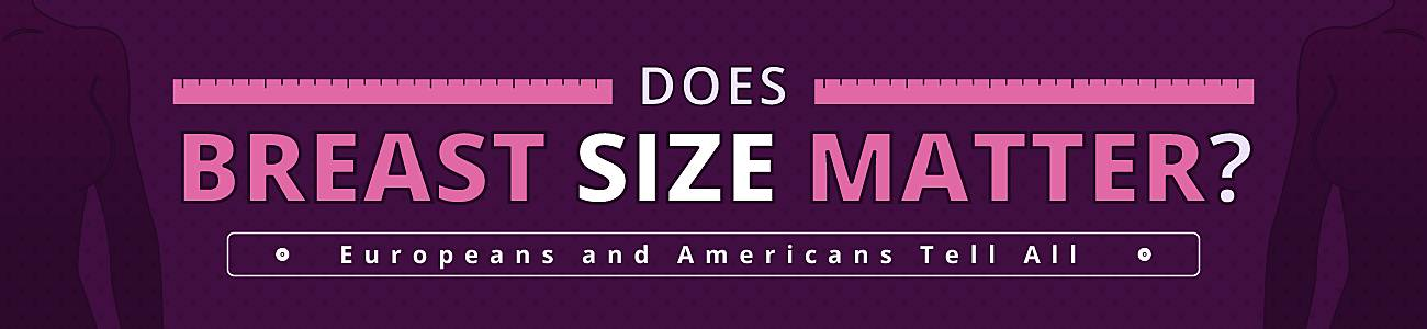 Matter men does to breast size What Men