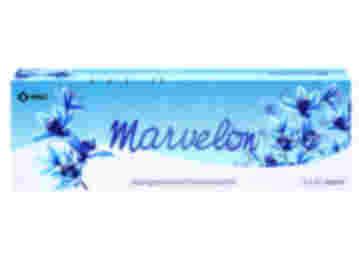 Pack of 63 Marvelon 150/30µg desogestrel/ethinylestradiol tablets