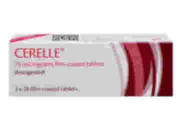 84 pack of Cerelle 75µg desogestrel film-coated tablets