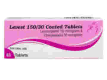 Pack of 63 Levest 150/30µg levonorgestrel/ethinylestradiol coated oral tablets