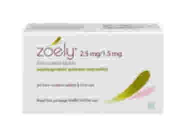 84 pack of Zoely 2.5/1.5mg nomegestrol acetate/estradiol oral film-coated tablets