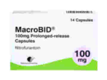 Pack of 14 MacroBID 100mg nitrofurantoin prolonged-release capsules