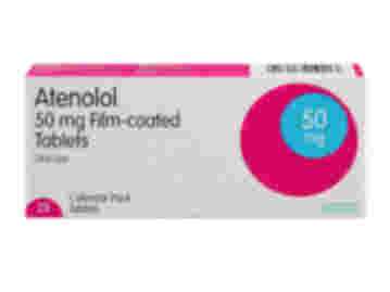 28 pack of 50mg atenolol film-coated oral tablets