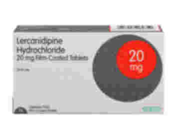 28 pack of 20mg lercanidipine hydrochloride oral film-coated tablets