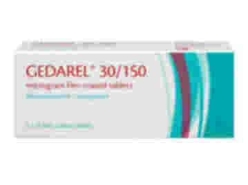 63 pack of Gedarel 30/150µg ethinylestradiol/desogestrel film-coated tablets