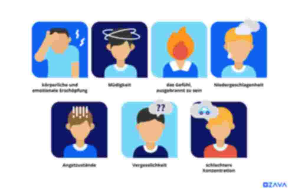 Typische Symptome von Burnout
