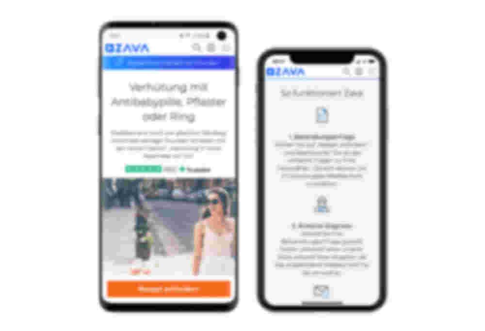 Die Zava Seite ist auch mit dem Handy abrufbar. So können Patienten von überall Informationen erhalten und Medikamente bestellen.