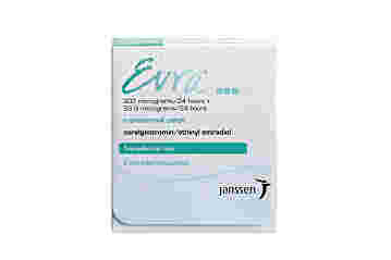 Front of packet containing the Evra Transdermal Contraceptive Patch