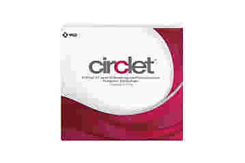Vorderseite einer Packung Circlet 3 beutel mit je 1 ring von MSD