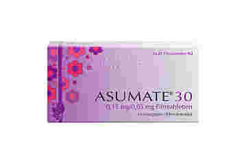 Vorderseite einer Packung Asumate 30