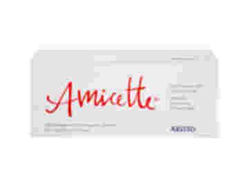 Vorderseite einer Packung Amicette mit 6x21 Filmtabletten von Aristo.
