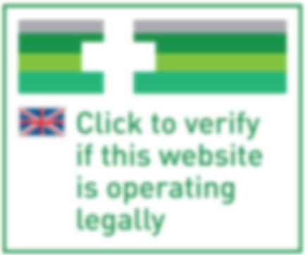 EU-Logo zur Überprüfung der Legalität einer Website.