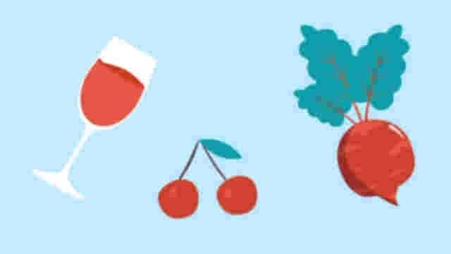Roter Stuhlgang: Clipart von roten Lebensmitteln.