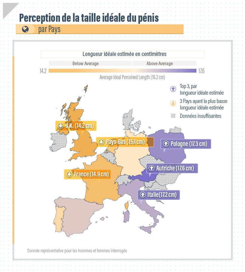 Rappelons quen France, la longueur moyenne dun pénis en érection est de 13,5 cm.