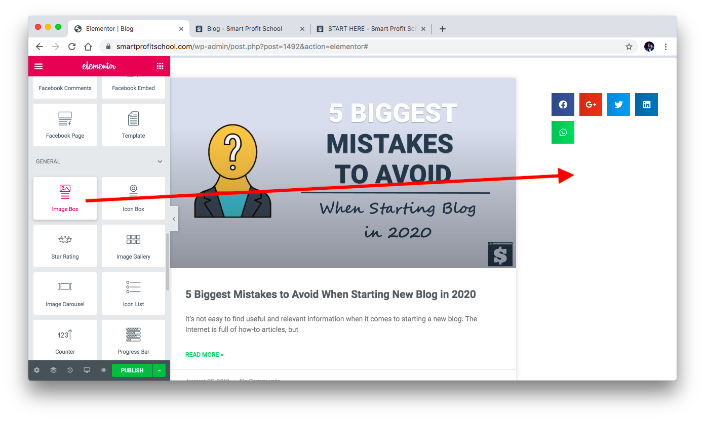 Adding Image Box to blog