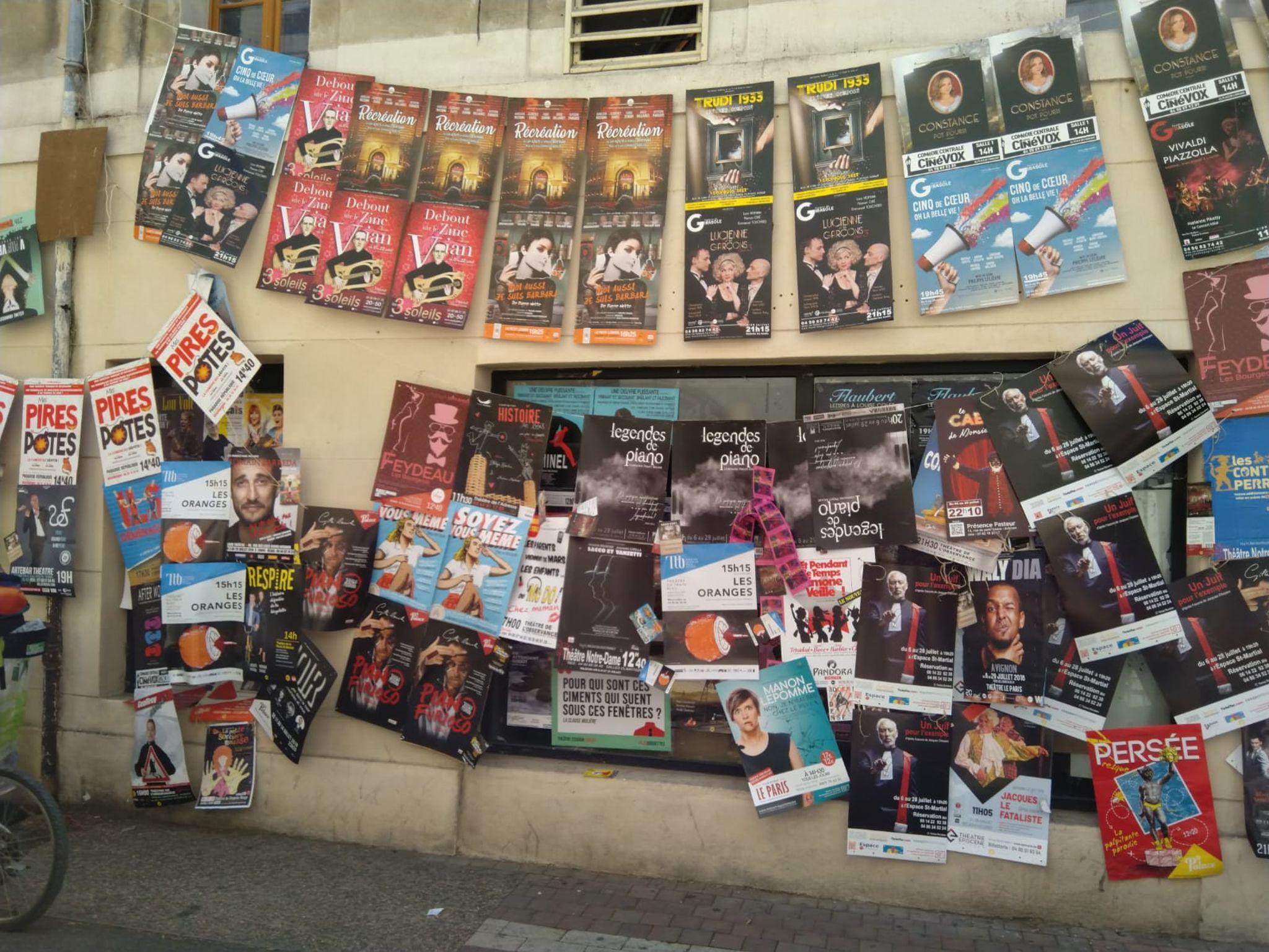 affiches du festival d'avignon