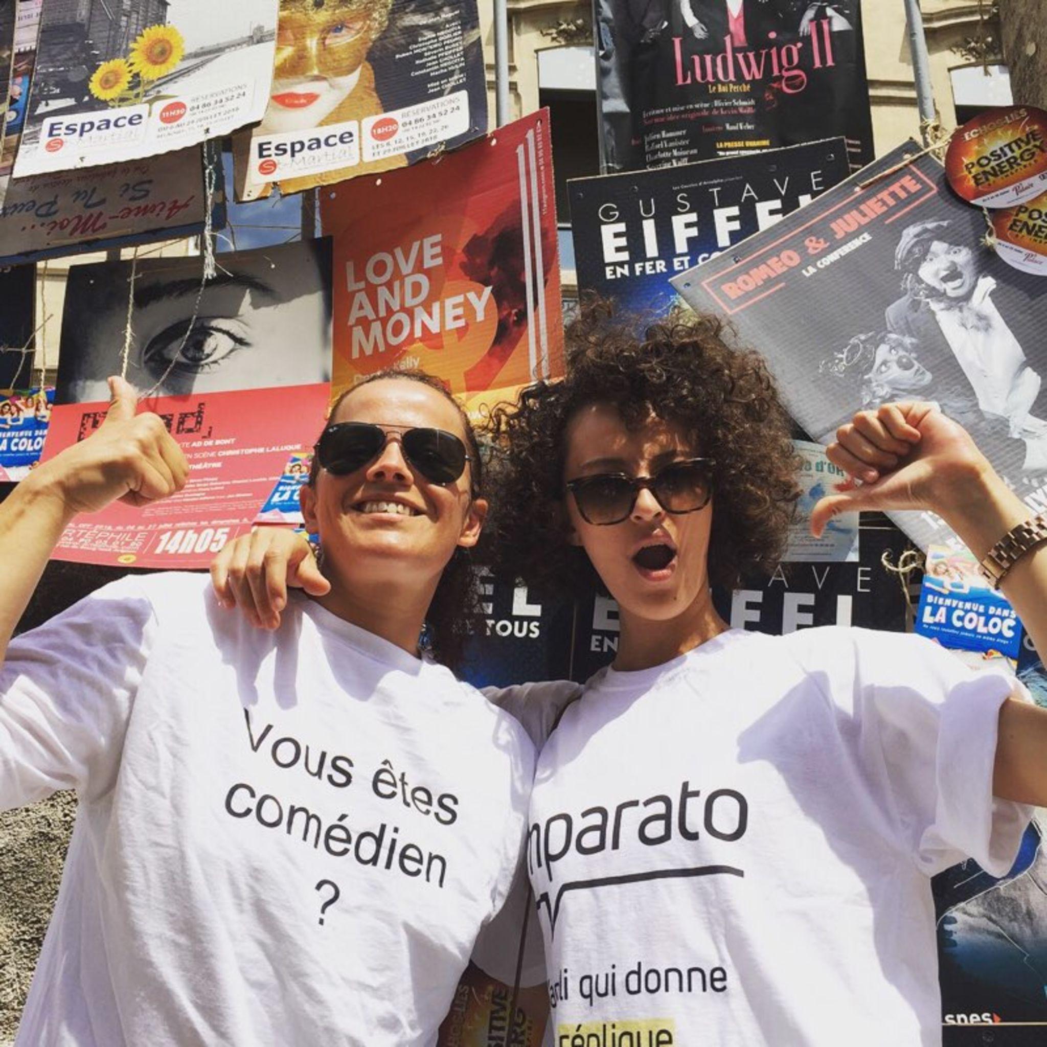 Nos 2 Imparato-girls pendant le Festival d'Avignon 2018