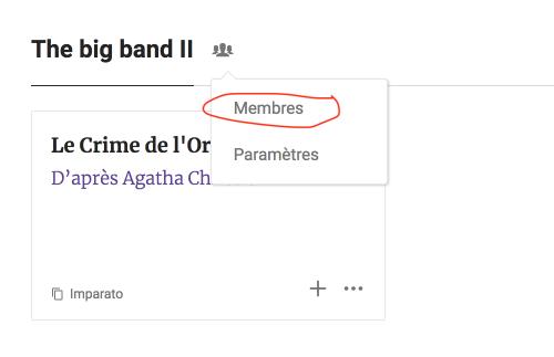 Accéder au menu de gestion des membres de la troupe sur le web