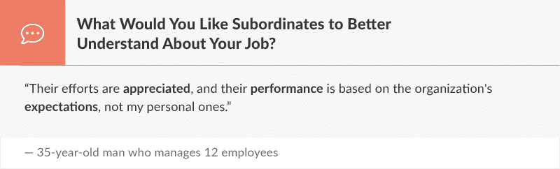 What Would You Like Subordinates to Better Understand About Your Job?