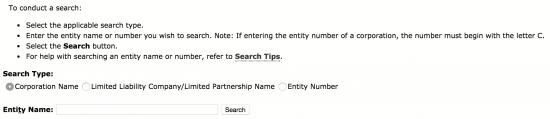 california business entity search example
