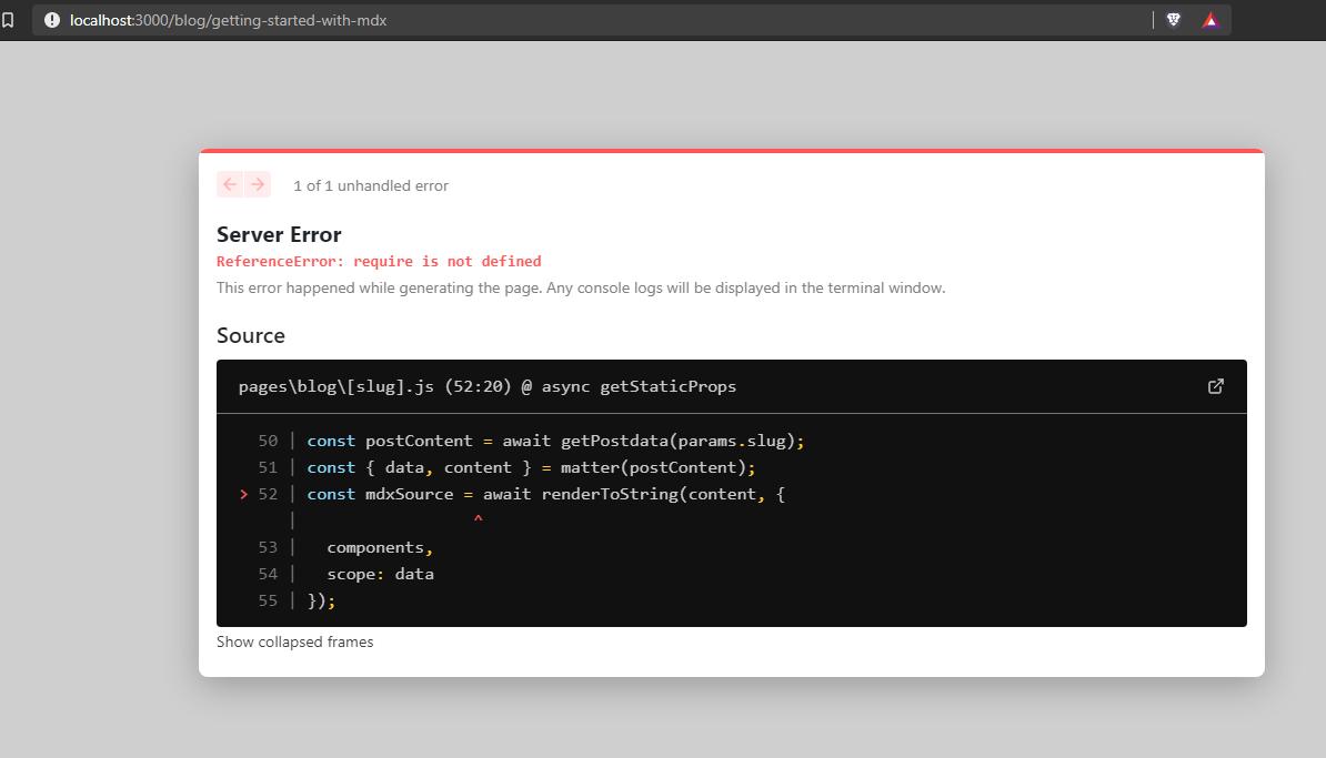 require is not definer error