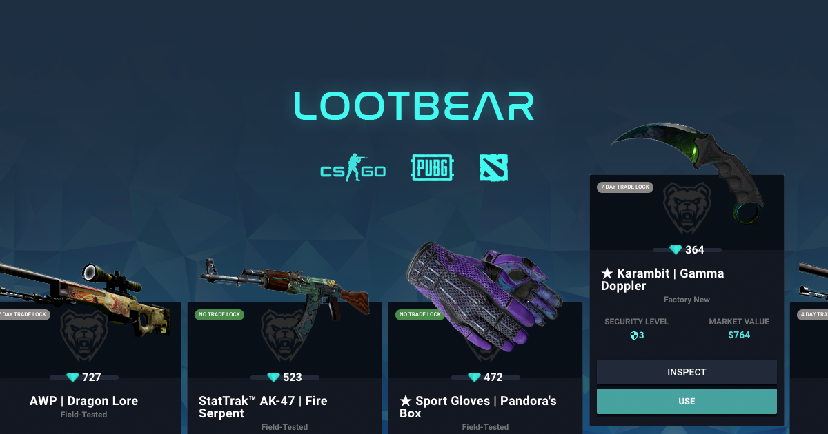 LootBear | Gaming Inventory