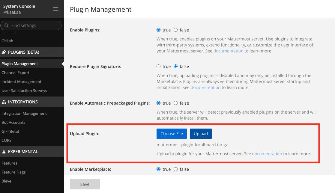 Mattermost Upload Plugin