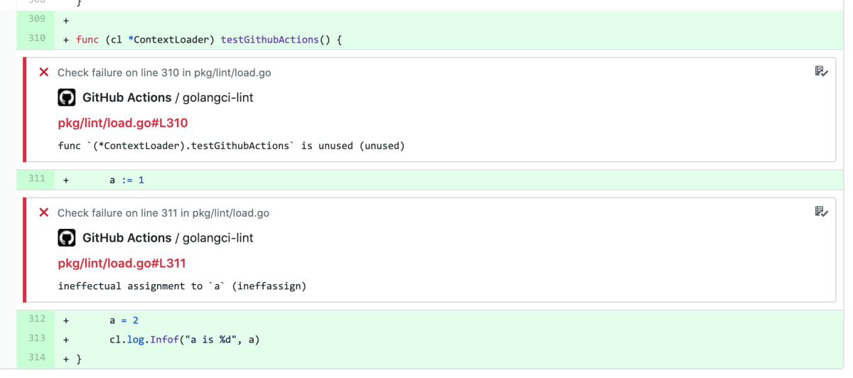 golangci-lint w/ GitHub Actions