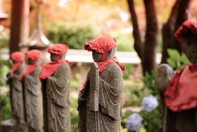 Jizo Statue for Garden & Bedroom