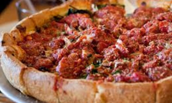 Sample catering from Blue Line Pizza - Campbell