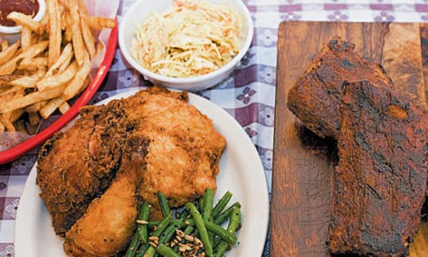 Sample catering from Georgia's Eastside BBQ