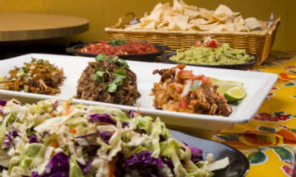 Sample catering from Guerilla Catering