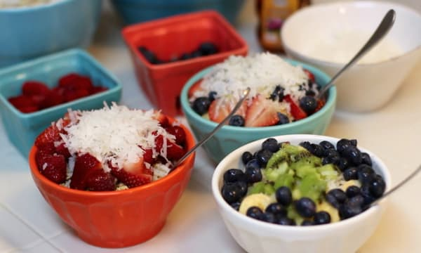Sample catering from Mahalo Bowl