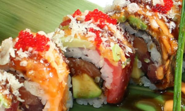Sample catering from Miyabi Sushi and Asian Cuisine