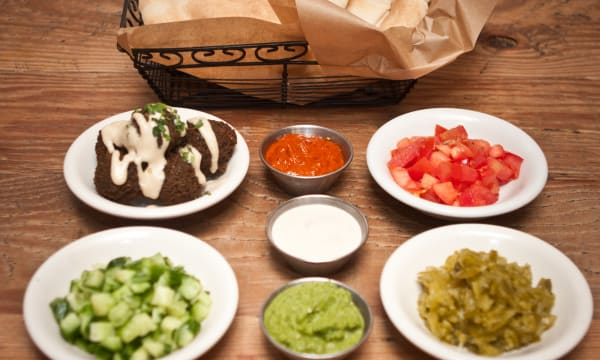 Sample catering from Oren's Hummus Shop
