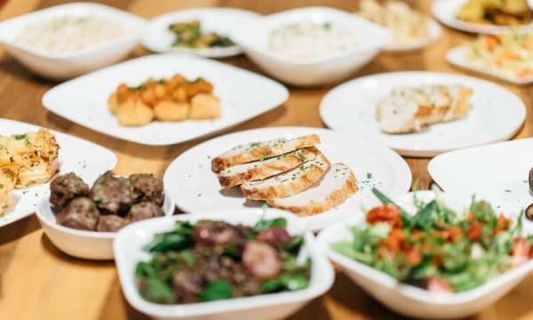 Sample catering from Olive Catering
