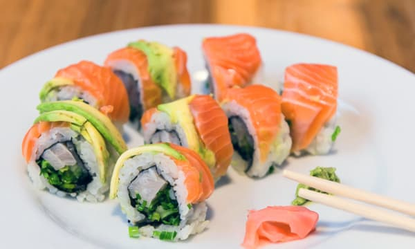Sample catering from Lchaim Sushi